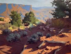 """Badland Respite,"" Oil painting"
