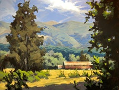 """A Good Harvest of Light,"" Acrylic painting"
