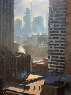 """Sleeping Giants,"" Oil painting"
