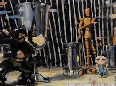 """""""Ninja!"""" Oil Painting"""
