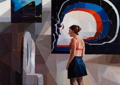 """""""Scene B,"""" Oil Painting"""