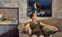 """""""Scene G,"""" Oil Painting"""