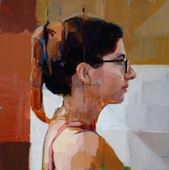 """""""Side Profile 2,"""" Oil Painting"""