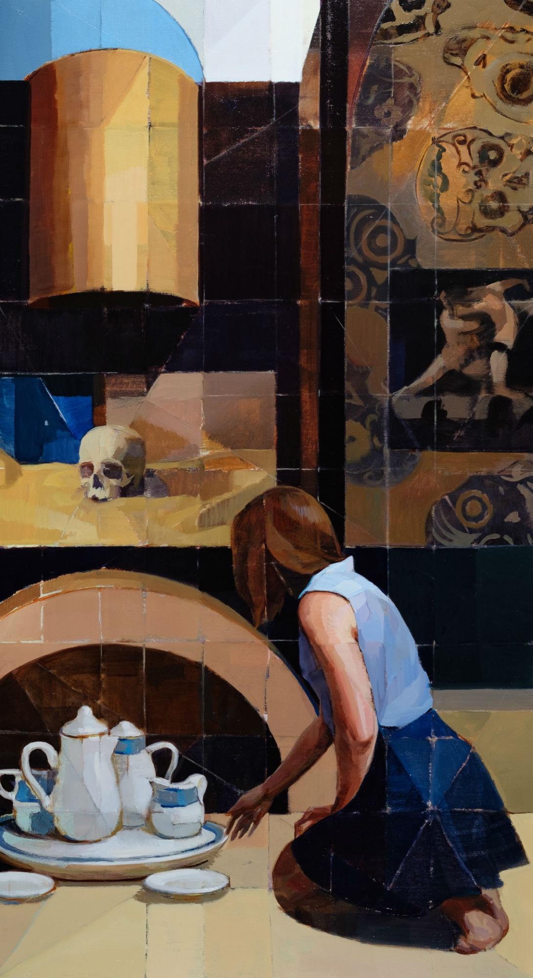 """""""Scene GH,"""" Oil Painting"""