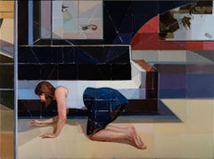 """Scene F,"" Oil Painting"