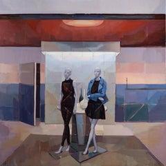 """Mannequins,"" Oil Painting"