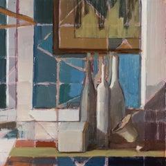"""""""Glass Bottles,"""" Oil Painting"""