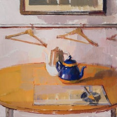 """Blue Orange Kettle,"" Oil Painting"