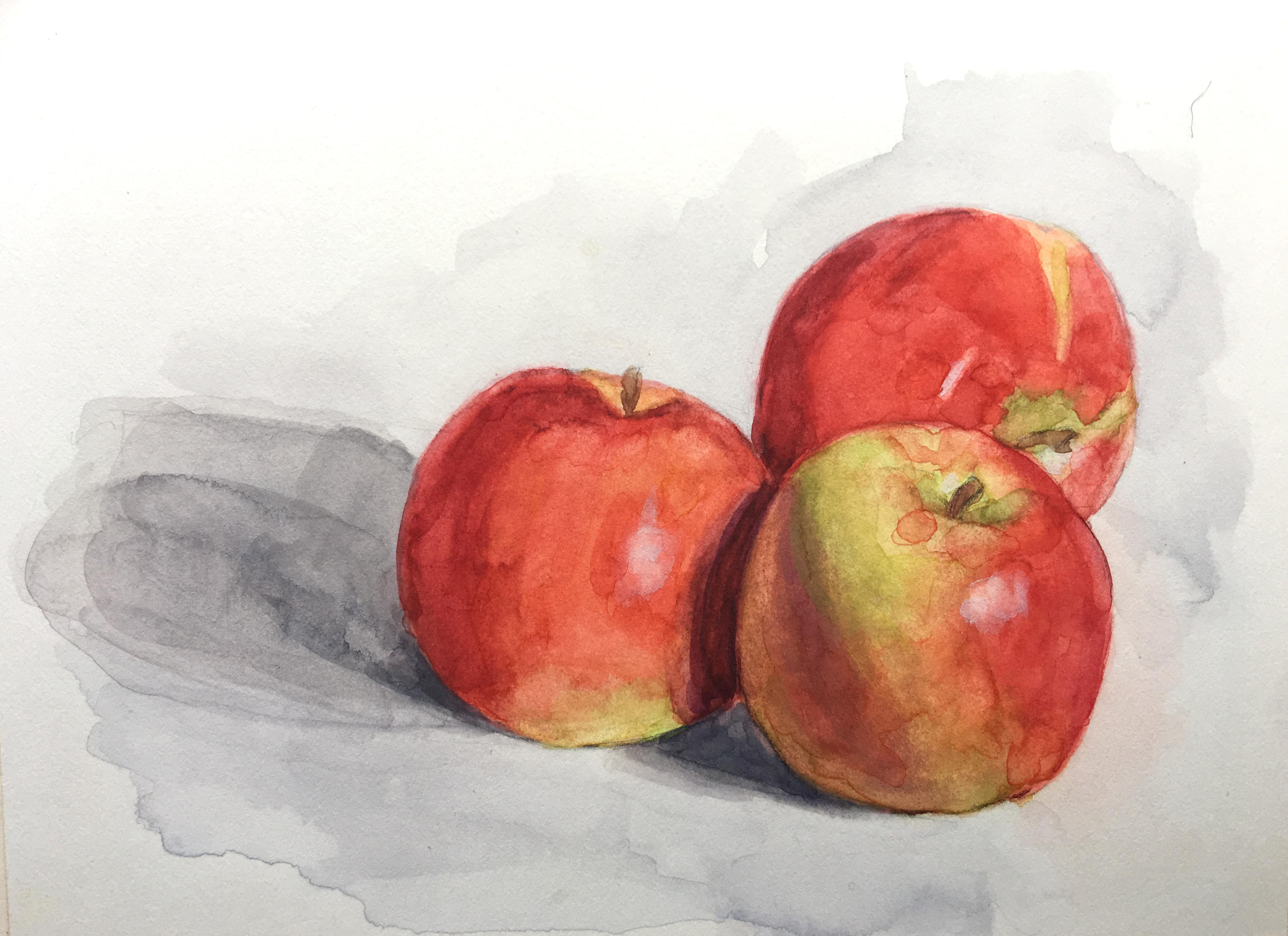 """Three Sisters,"" Watercolor Painting"