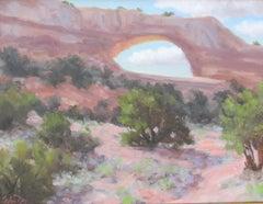 """Wilson Arch Near Moab, Utah,"" Oil Painting"
