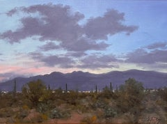 """""""Tucson Twilight,"""" Oil Painting"""