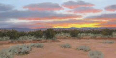 """""""Evening Over New Mexico,"""" Oil Painting"""