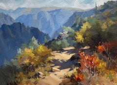 """""""Long View,"""" Oil painting"""