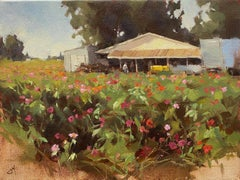 """Flower Farm,"" Oil painting"
