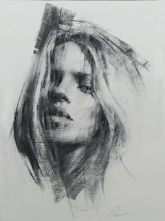 """""""Morning Mood,"""" Charcoal Drawing"""