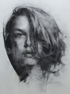 """""""Lost in Patterns,"""" Charcoal Drawing"""