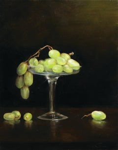 """Grapes,"" Oil Painting"