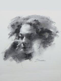 """Figure #19,"" Charcoal Drawing"