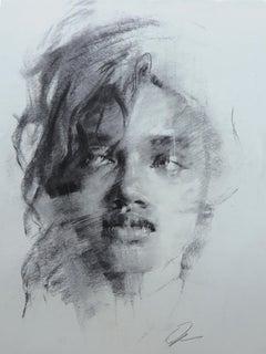 """Figure #32,"" Charcoal Drawing"