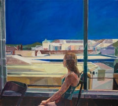 """""""Rooftop View,"""" Oil Painting"""