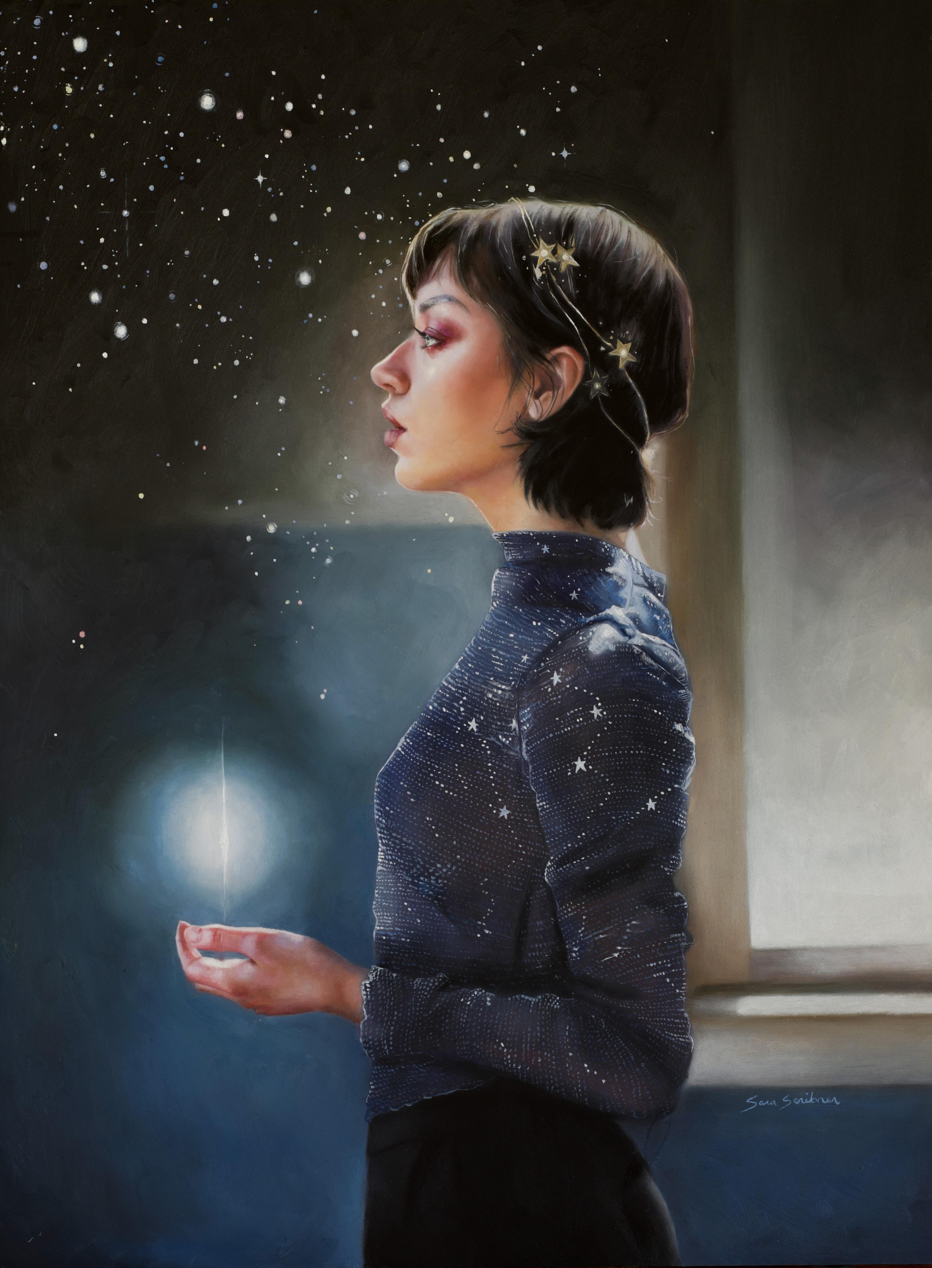 """Nightfall,"" Oil Painting"