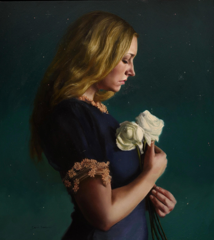 """Katie,"" Oil Painting"