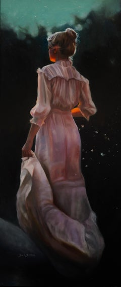 """""""Into the Night,"""" Oil Painting"""