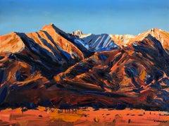 """Sangre De Cristo Sunrise, Colorado"" Oil Painting"