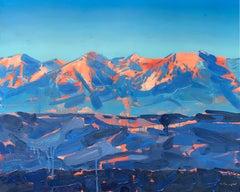 """Rocky Mountain Glow, Colorado"" Oil Painting"