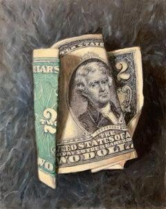 """""""2 Bucks"""", Oil Painting"""