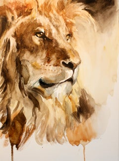 """""""Lion"""" Watercolor Painting"""