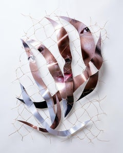 Disassemble #37 - Portrait on metal with copper wire from Chihuahua, Mexico