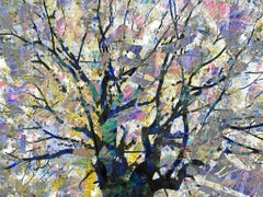 Feynman's Notes 1 - Multicolored, digital composite tree & nature abstract