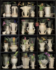 Destiny Bouquet - Shelf grid still life photomontage with vases & flowers