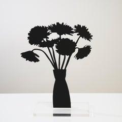 Gerberas - Floral black shadow flower bouquet sculpture