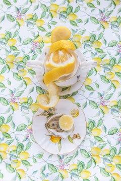 Gracie Lemonata with Lemon - Lemon & oyster food floral still life vintage dish