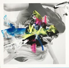 Modernized 5 - Collage w/ dancers and colorful acrylic paint brush embellishment