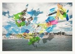 Fair POP: Coney Island 1 - Multimedia summer beach carnival collage w/ fair food