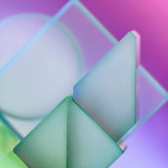 Probability Theory - Atmospheric purple, blue, & green geometric light abstract
