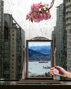 Spring Predictor (Vancouver) - Pink peonies & rain, artist studio still life