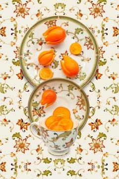 Wedgwood Oberon with Mandarinquat - Orange, beige & green floral food still life