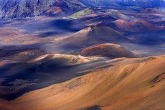 Surreal Land #2 - Sweeping aerial blue & purple mountain Hawaii island landscape