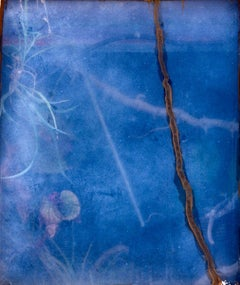 Putty - Soft, abstract blue underwater nature landscape with plant flora