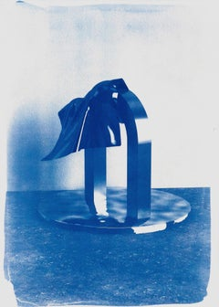 Clear Plastic nº2, Contemporary Cyanotype on Watercolor Paper, 70x50cm, Minimal