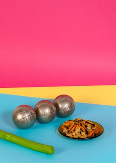 Still Life Conceptual Scene, Gallery Quality Giclée, Playful Food & Vivid Color