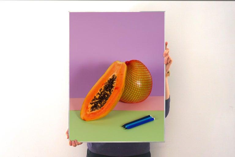 Burnt Orange Papaya, Contemporary Still Life, Tropical Scene, Exotic Fruit    - American Modern Photograph by Ryan Rivadeneyra