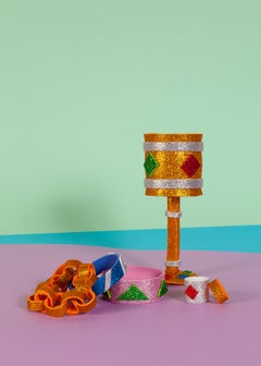 Glitter Little Gems, Naif Giclée, Pastel Palette, Miami Art Deco Inspiration