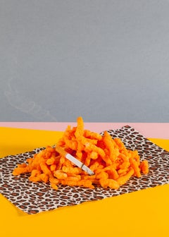 Sexy Miami Nostalgic Futuristic, Orange Food Scene Giclée Animal Print , 2013