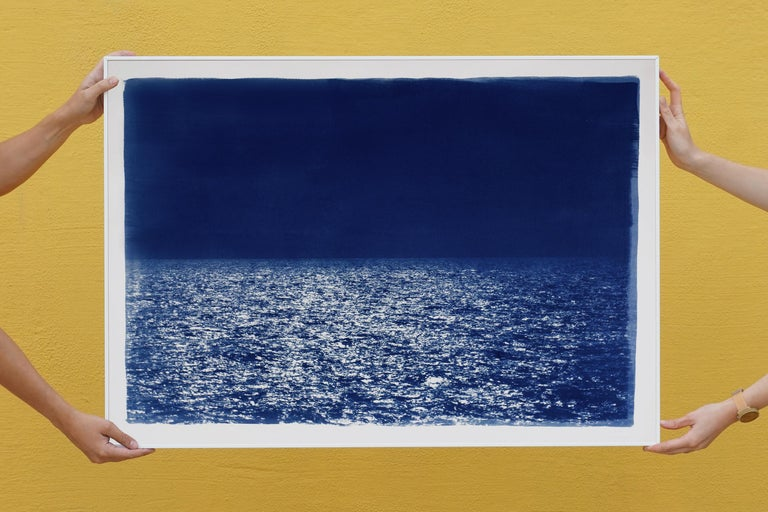 This is an exclusive handprinted limited edition cyanotype. Outstanding