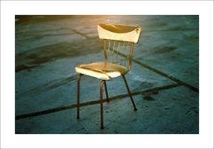 Photo Giclée Print, Antique Industrial Chair, 100x70cm, Photograph, Stylish Art
